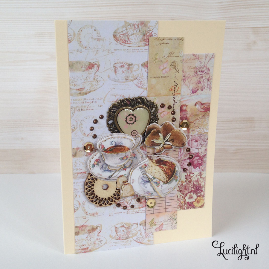 coffee handmade card by lucilight