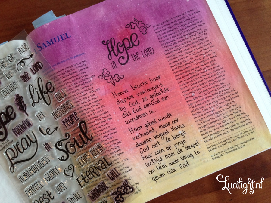 bible journaling 1 samuel by lucilight with creative worship stamps
