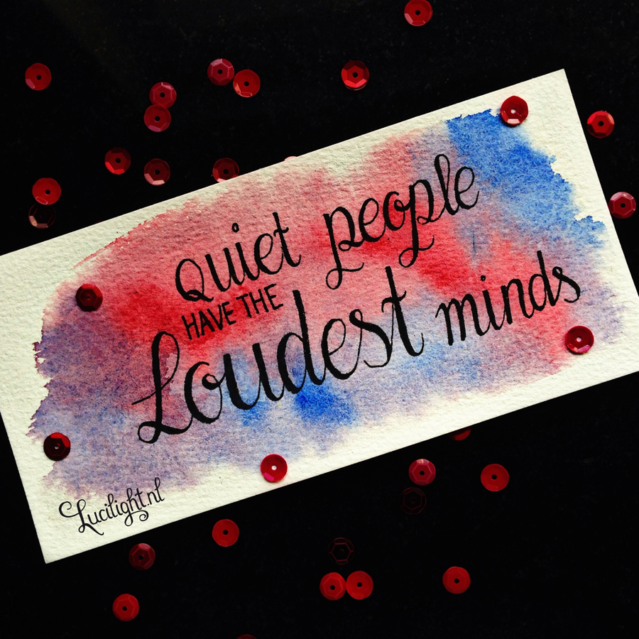 quiet people have the loudest minds - stephen hawking - illustrated by lucilight