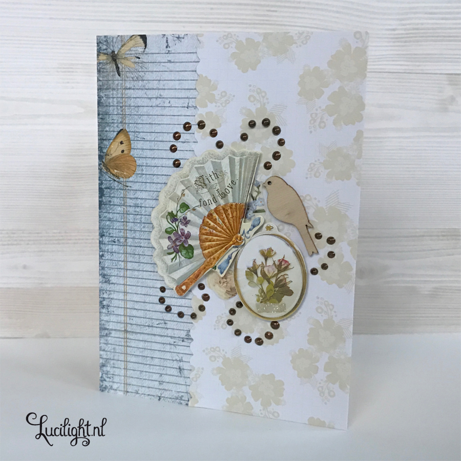 vintage fond love card by lucilight