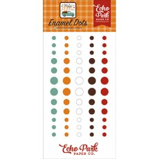 Happy Fall enamel dots